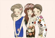Whimsical World of Laura Bird illustration.