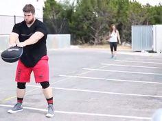 """20lb Hyperwear SandBell Toss: 53'4"" #trueathletegames"" -Hayden Baillio | 7x Texas Longhorn All American, Austin Simply Fit Northwest #hyperwear #sandbell"