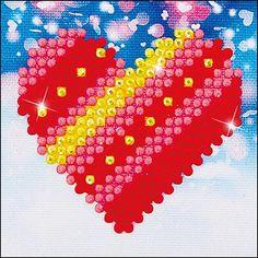 Diamond Dotz Patchwork Heart Love Kids Beginner Facet Art Craft Kit with Frame