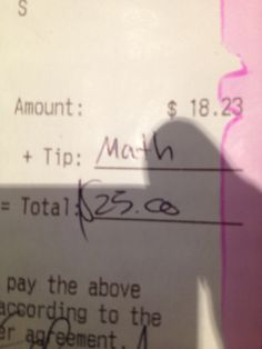 Tipping like a boss.