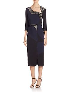 Antonio Berardi - Cady Sequined Three-Quarter Dress