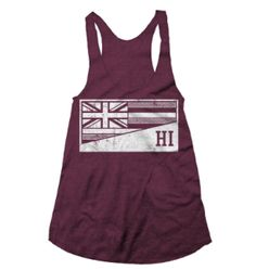 Racer back tank, 100% cotton. Show off your Hawaii Pride with this Maui Made Tank!