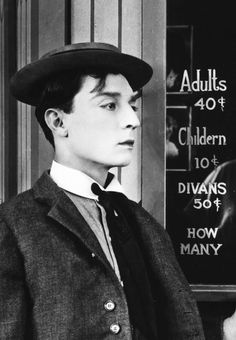 "Buster Keaton...I don't know...was he predicting ""The Simpsons"" and their running couch gag? ;)"