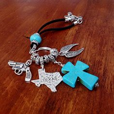 Car Accessories, Rearview Mirror Charm, Texas Car Charm, Rear View Mirror Charm, Christian Keychain, Car Mirror Charm, Cowgirl Keychain by DorysBoutique on Etsy