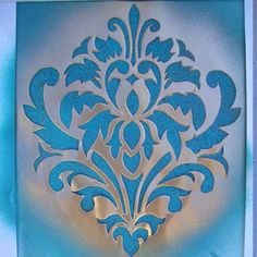 DAMASK pattern (for drapes & floor)
