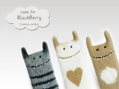 Monster sleeve for BlackBerry  eco-friendly cases by EthicStyle