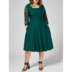 $10 82 Plus Size Embroidered Embellished Midi Dress in Peacock Blue