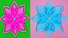 Christmas Decoration FLOWERS PAPER HANDBOOKS - Paper flower Preschool Cr... Paper Craft Making, Diy Paper, Paper Crafts, Christmas Diy, Christmas Decorations, How To Make Paper Flowers, Preschool Crafts, Ideas, How To Make Flowers Out Of Paper