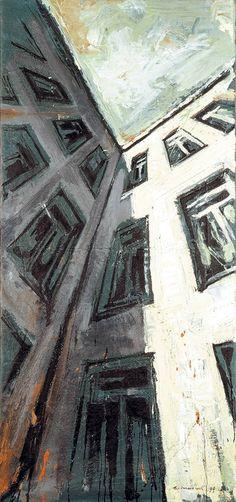 "Saatchi Art Artist Helge Windisch; Painting, ""Moabiter Himmel 2"" #art"
