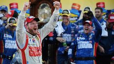 Dale Jr. wins his first grandfather clock at Martinsville Speedway!