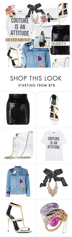 """Statement T-Shirts"" by addorajako ❤ liked on Polyvore featuring Yves Saint Laurent, Tom Ford, Chanel, Moschino, Kenzo, GUESS by Marciano, First People First, Dolce&Gabbana, Old Navy and statementtshirt"