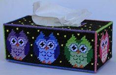 OWLS TISSUE BOX COVER 1/4