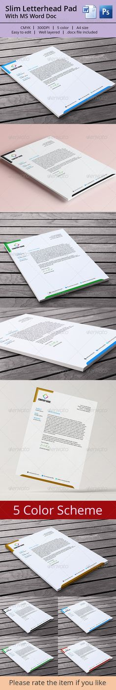 Letterhead - Stationery Print Templates Letterhead Pad Office - stationery for word documents