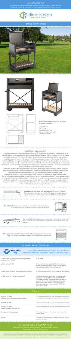 Parrilla Movil A Leña Carbon Tromen Criolla Chulengo - $ 7.595,00 en MercadoLibre