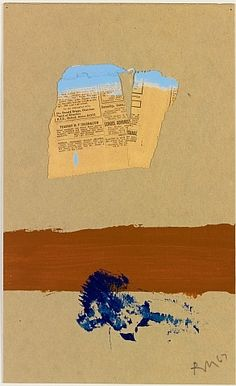 Robert Motherwell, The Brown Stripe, 1967 Robert Motherwell, Literary Themes, Collages, Colorful Abstract Art, Minimalist Painting, Collage Art Mixed Media, Large Canvas Art, Impressionist Art, Texture Art