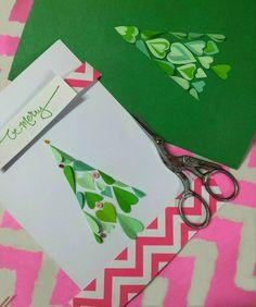 Folded Hearts Christmas Tree Card   Flickr - Photo Sharing!