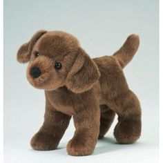Chocolate Labrador Plush Toy