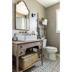 """Becki Owens on Instagram: """"Amazing bathroom by @jennasuedesign. Today on Beckiowens.com we are talking all about the patterned tile trends happening right now. Starting with bathrooms! More tomorrow."""""""