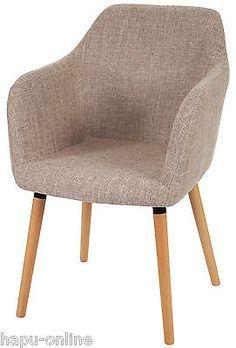 Stuhl Armlehne Esszimmer armlehnstuhl in holz textil eichefarben petrol stühle