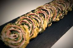 Low-Carb Spinatrolle mit Frischkäse und Kochschinken 1