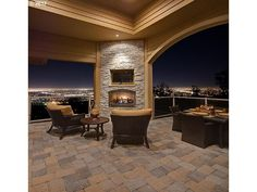 Check out the amazing balcony view from this luxurious Portland home, a beautiful fireplace and dining area add variety to the sensational experiences one might have!