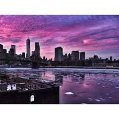 """Unreal cloud spectacle over Brooklyn Bridge "" reagram from Johannes Huebl"
