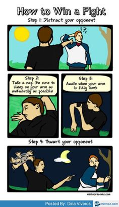 How to win a fight | Memes.com
