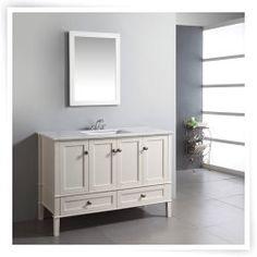 Simpli Home Chesapeake 48-in. Single Bathroom Vanity