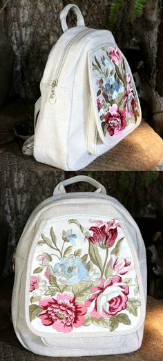 On Sale : A White Embroidery Backpack is now available at $49 from Pasaboho. ❤️  This bag exhibit unique design with floral embroidery patterns. ❤️ Available for Wholesale and Retail. :: boho fashion :: gypsy style :: hippie chic :: boho chic :: outfit ideas :: boho clothing :: free spirit :: fashion trend :: embroidered :: flowers :: floral :: summer :: fabulous :: love :: street style :: fashion style :: boho style :: bohemian : vintage : ethnic tribal : boho bags : embroidery dress…