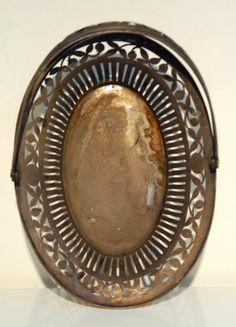 Austro Hungarian Solid Silver Fruit Basket Antique Old Rare Floral Decoration