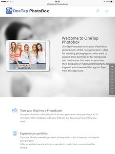 Onetap photobox - One of the coolest app for DIY photobooth projects ever. Diy Photobooth, Look Here, Ipad App, Cool Stuff, Business, Projects, Wedding, Log Projects, Valentines Day Weddings