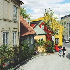 Street of Oslo Wonderful Places, Beautiful Places, Norway Travel Guide, Places To Travel, Places To Visit, Cottages By The Sea, Hillside House, Miles To Go, Travel List