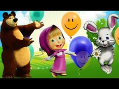 Balonku Ada 5 With Masha and The Bear Singing & Dance | Lagu Anak Indone...