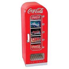 Coca Cola Coke Small Mini Fridge Vending Machine Bar Kitchen Retro Games Room http://stores.ebay.com/Mokasingas-Toys-and-Gadgets