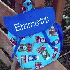 Personalized Thomas The Train Toddler backpack by SweetSamantha