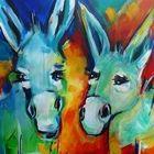 NEU! - Eselssommer, 60x80cm, acryl auf lw, ©Anja Huehn 2013