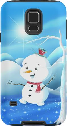 'Snowbaby on Sparkling Ice' Case/Skin for Samsung Galaxy by We ~ Ivy Galaxy S3, Samsung Galaxy, Presents For Friends, My Themes, Website Themes, Good Cause, Sparkling Ice, Ipod Touch, Ipad Case