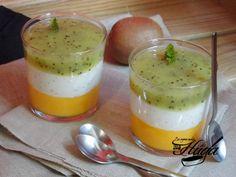 Vasitos de mango, kiwi y yogur #recetas #buenprovecho