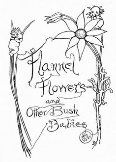 May Gibbs Colouring Pages, Adult Coloring Pages, Baby Artwork, Flannel Flower, Cicely Mary Barker, Fairy Pictures, Australian Art, Flower Fairies, Old Art