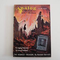 Vintage 1961 Analog Science Fact & Fiction Magazine Tom Swift Rockets Space Travel Sci-Fi by VintageBlackCatz on Etsy