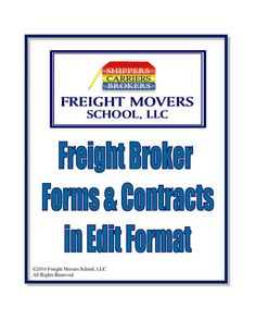 Customize and edit all of the freight broker forms and contracts you need