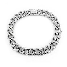 Men's 12.0mm Stainless Steel Curb Chain Bracelet - 9.0""