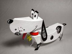 Paper Toy - Watusi the Talking Dog - Papercraft4u   Free Papercrafts, Paper Toys, Paper Models, Gratis