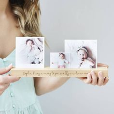 Looking For a Great Personalised Gift? Our Baby Personalised Photo Block from Sophia Victoria Joy may just be what you are looking for Support Photo, Faire Part Photo, Picture Holders, Christmas Wood, Christmas Signs, Personalized Baby, Personalised Photo Gifts, Photo Blocks, Photo On Wood