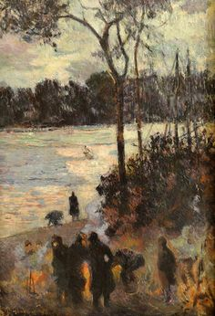 The fire at the river bank, 1886 Madrid - Museo Thyssen-Bornemisza