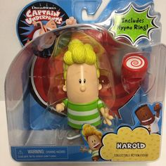 Just Play Captain Underpants Collectible Figure Harold With Hypno Ring New 886144667442 Captain Underpants Toys, Photoshopped Animals, Bloom Winx Club, Cool Avatars, Anime Dolls, Dreamworks, Cool Toys, Gabriel, Eyelashes