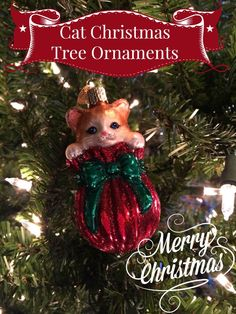 Cat lovers everywhere love these Cat Christmas tree ornaments. Cats are all so beautiful and they make the purr-fect subjects for Christmas ornaments.