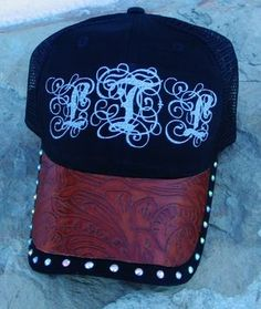ddf2d7a9908 Monogramed Trucker Cap. Cowgirl HatsBarrel RacingBaseball HatsBall ...