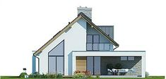 Projekt domu Arystoteles 144,5 m2 - koszt budowy - EXTRADOM Bungalow Renovation, Bungalow Exterior, Rustic House Plans, Country House Plans, Arch House, Facade House, Sip House, Small Villa, Beautiful Home Designs