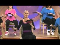 """Shimmy & Twist"" Chair Dancing Fitness - Pull up a chair and enjoy this seated workout to a fit, tone body. Enjoy this fun routine from Chair Dancing Through The Decades by Jodi Stolove's Chair Dancing Fitness. Stretching Exercises For Seniors, Chair Exercises, Pilates, Sport, Elderly Activities, Workout Results, Senior Fitness, Keep Fit, Yoga"